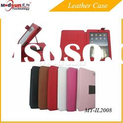 PU Leather case for iPad 2/New iPad for hot sale