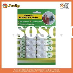 Plastic wall l hook,self-adhesive and removable