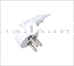 Power cord with plug/Israel Power cords/ israel ac power cords