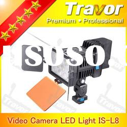 Professional camera LED Light Video IS-L8 With 8pcs LED digital camera parts