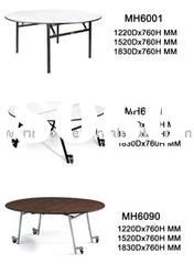 Round folding banquet table MH6001 foldable,black powder coated finish