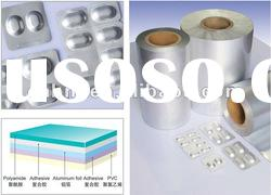 Stamping cold hard piece of solid medicinal compound aluminium foil