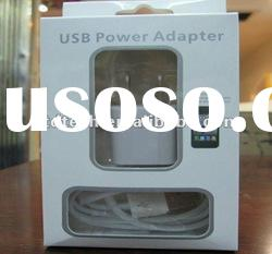 USB power adapter charger plug data cable for iPhone