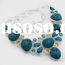 Wholesale jewelry market designer necklace charms Turquoise