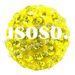 Yellow crystal pave ball for Tresor Paris bracelet