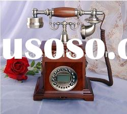 antique old style wooden telephone