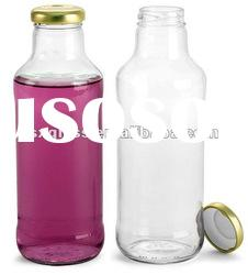 beverage glass bottle with screw top