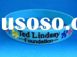 cheap debossed color filled silicone bracelet