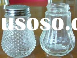 clear spice glass jar with cap