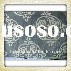 curtain fabric organza with flock