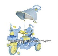 cute blue colored baby tricycle