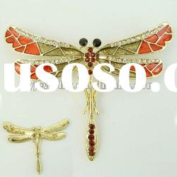 dragonfly brooches colorful emanel accessories diamond jewelry