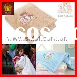 embroidery coral fleece blanket baby