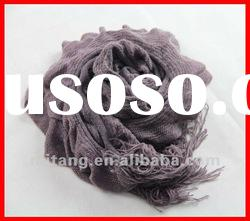 fashion and very popular yarn dyed long polyester scarf