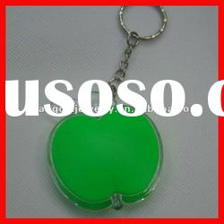 fashion apple acrylic key ring with led light