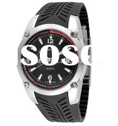 fashion good quality rubber band digital watch mens stainless steel watch