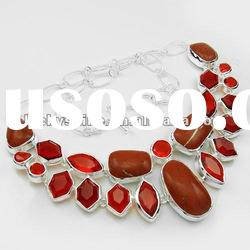 fashion party accessories costume necklace red Turquoise
