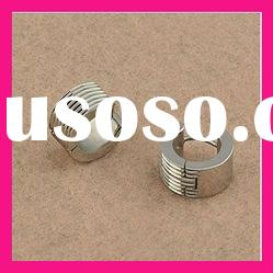 fashion stainless steel silver color stud earrings for men
