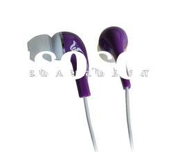 flate cable mp3/mp4 stereo earphones, colorful earbuds,high quality in ear earphone