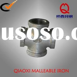 galvanized malleable iron pipe fitting banded equal cross