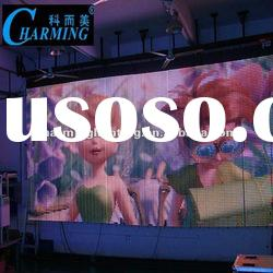 led curtain display for outdoor advertisement
