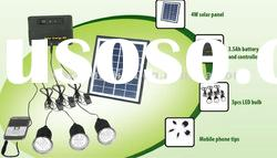led solar home lighting system(for rural)with 3pcs LED for 3 rooms