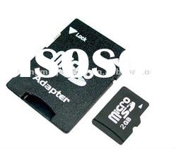 mobile phone memory card sd/micro sd 2gb with adapter