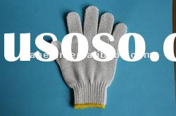natural white knitted 70%cotton work gloves