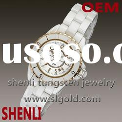 palladium white ceramic watch
