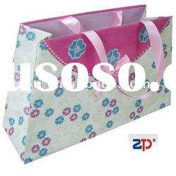 paper gift bag with ribbon
