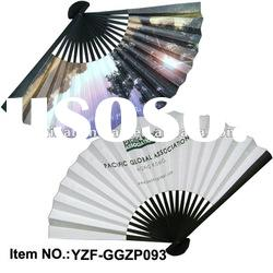 paper hand fan printed both sides as promotion gift