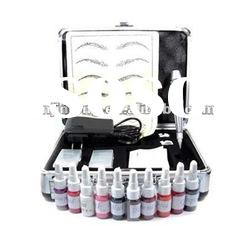 permanent makeup kit silver pen ink Case for tattoo eyebrow