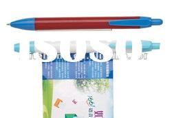 plastic ball pen with banner