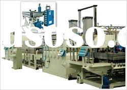 plastic hollow gride plate extrusion line
