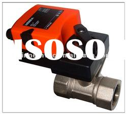 proportional control ball valve for water flow control in HVAC system