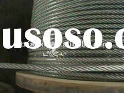 pvc coated galvanized steel wire rope for elevator 7x19