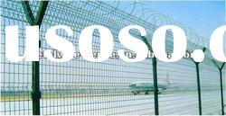pvc coated wire mesh fence for airport(ISO9001&CE certificate)