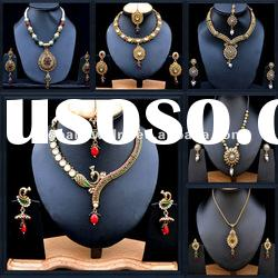 wholesale african fashion jewelry set indian jewelry set bridal fashion jewelry kundan set
