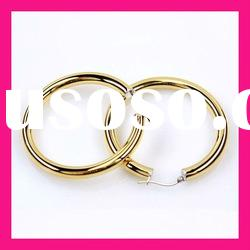 wholesale fashion girls gold hoop earrings 2012 new design