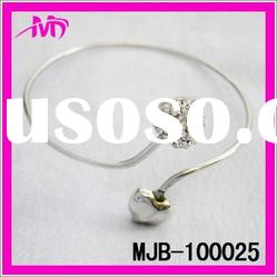 wholesale imitation jewelry fashion heart rhinestone bangle
