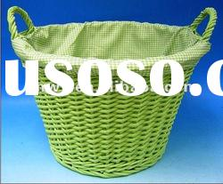 willow gift basket/ pvc fruit basket with handle