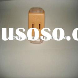 wireless and triporate power plug socket with orange
