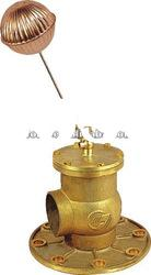 00902 Brass Floating Ball Actuated valve with flange