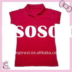100% cotton fashion polo shirt for lady