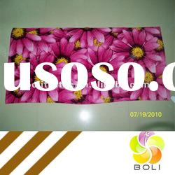 100% cotton velour reactive printing beach towel with flowers BHM-052