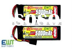 11.1V 5000mAh 40C high rate li-polymer discharge battery for the RC helicopter