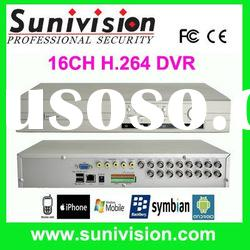 16ch H.264 Standalone dvr recorder with DVD writer USB outside