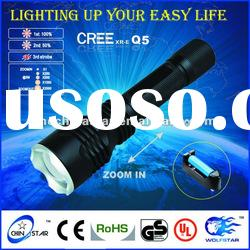 200 lumens Zoom Cree Led flashlight /torches/led lighting for outdoor use