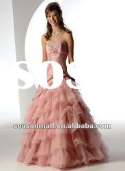 2012 Hot Selling Strapless A-line Floor-length Prom Dresses