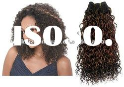 2012 Hot sale,wholesale high quality indian remy hair afro curl brown full lace wig